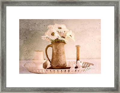 Daisies Framed Print by Betty LaRue
