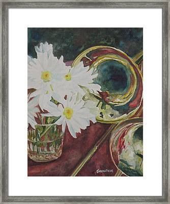 Daisies Bold As Brass Framed Print by Jenny Armitage