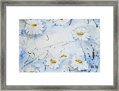 Daisies - Flower Framed Print by Ismeta Gruenwald