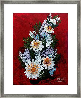 Daisies Lilacs And Forget Me Nots Framed Print by Barbara Griffin