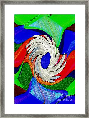 Daisy Bloom Digital Art Framed Print by ImagesAsArt Photos And Graphics