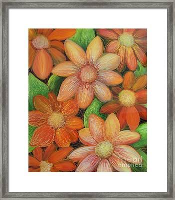 Daisy Bouquet Framed Print by Anna Skaradzinska