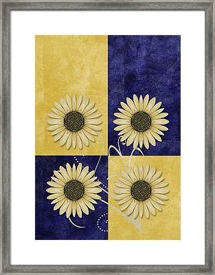 Daisy Quatro V09 Framed Print by Variance Collections
