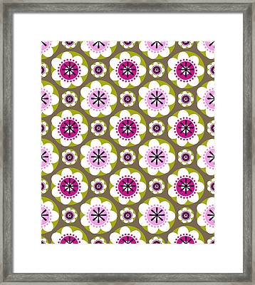 Daisy's Flower Garden Framed Print by Lisa Noneman