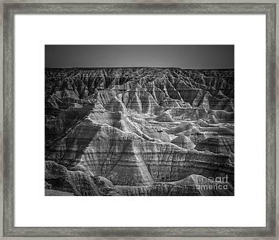 Dakota Badlands Framed Print by Perry Webster