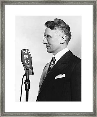 Dale Carnegie Framed Print by Underwood Archives