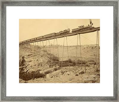 Dale Creek Bridge Union Pacific Framed Print by Getty Research Institute