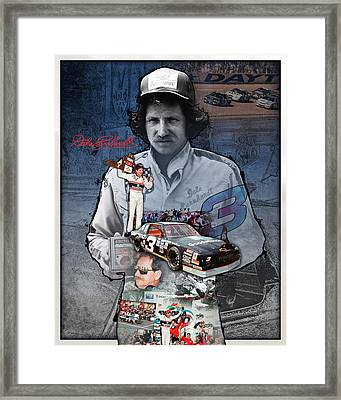 Dale Earnhardt Collage Framed Print by Retro Images Archive
