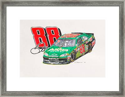 Dale Earnhardt Jr. #88 Amp Framed Print by David Straitiff
