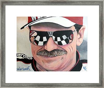 Dale Earnhardt Sr Framed Print by Tom Carlton