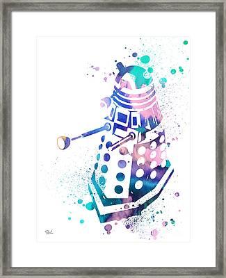 Dalek 2 Framed Print by Luke and Slavi