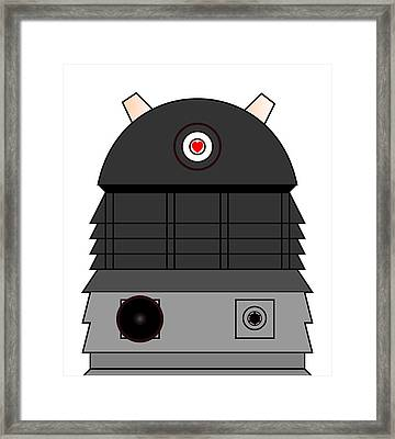 Dalek I Love You Framed Print by Richard Reeve