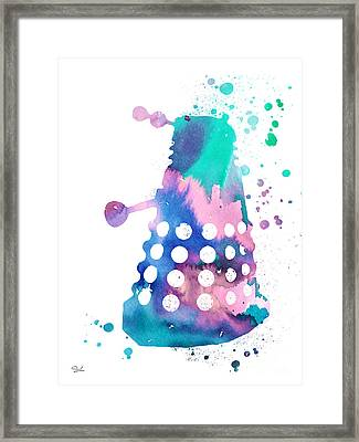 Dalek Framed Print by Luke and Slavi