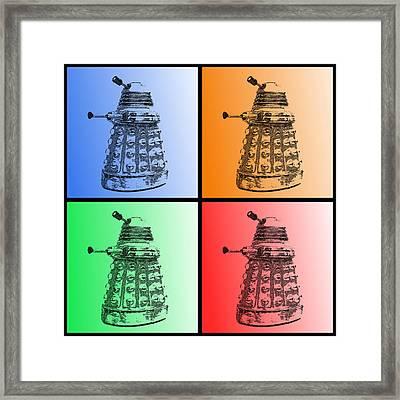 Dalek Pop Art Framed Print by Richard Reeve