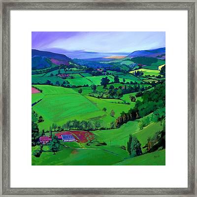 Dales Patchwork Framed Print by Neil McBride