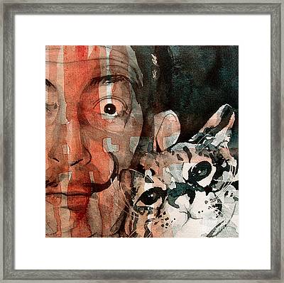 Dali And His Cat Framed Print by Paul Lovering