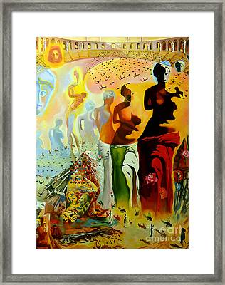 Dali Oil Painting Reproduction - The Hallucinogenic Toreador Framed Print by Mona Edulesco