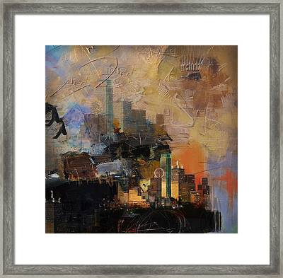 Dallas Abstract 002 Framed Print by Corporate Art Task Force