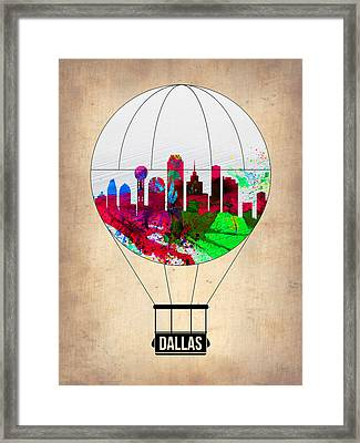 Dallas Air Balloon Framed Print by Naxart Studio