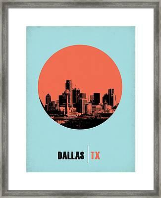 Dallas Circle Poster 1 Framed Print by Naxart Studio