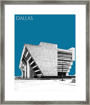 Dallas Skyline City Hall - Steel Framed Print by DB Artist