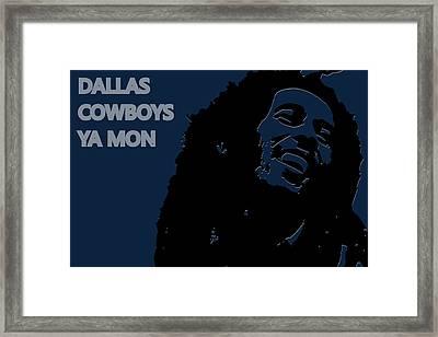 Dallas Cowboys Ya Mon Framed Print by Joe Hamilton