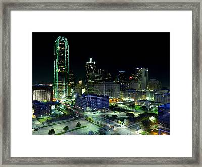 Dallas Hdr 007 Framed Print by Lance Vaughn