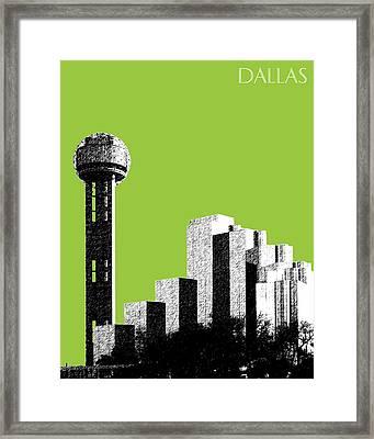 Dallas Reunion Tower Framed Print by DB Artist