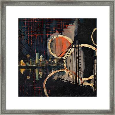 Dallas Skyline 002 Framed Print by Corporate Art Task Force
