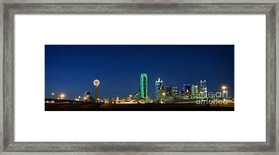 Dallas Skyline Framed Print by Charles Dobbs