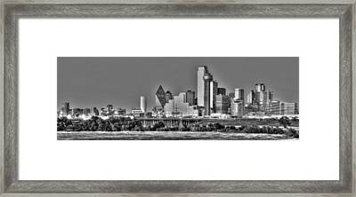 Dallas The New Gotham City  Framed Print by Jonathan Davison