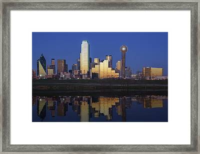 Dallas Twilight Framed Print by Rick Berk
