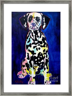 Dalmatian - Polka Dots Framed Print by Alicia VanNoy Call