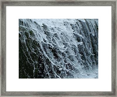 Dam Waterfall 4 Framed Print by Chris Flees