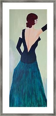 Dame De L'opera Framed Print by Lucie  Menard