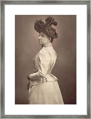 Dame Nellie Melba Framed Print by Stanislaus Walery