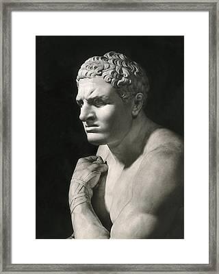 Damosseno By Antonio Canova Framed Print by Underwood Archives