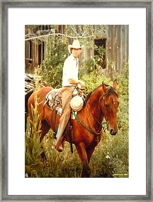 Dan Fogelberg Riding By The Old Schoolhouse Framed Print by Anastasia Savage Ealy