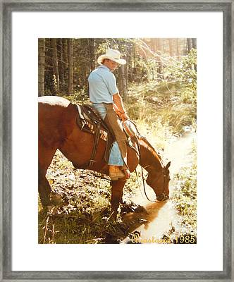 Dan Fogelberg Scenes From A Western Romance I Framed Print by Anastasia Savage Ealy