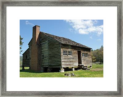 Dan Lawson Cabin In Cades Cove Framed Print by Roger Potts