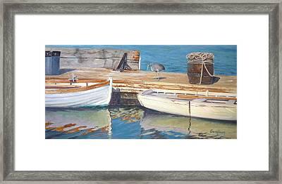 Dana Point Harbor Boats Framed Print by Sharon Weaver