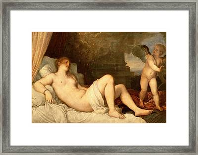 Danae Framed Print by Titian