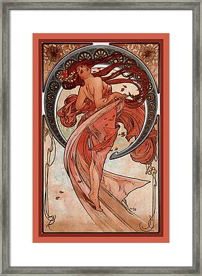 Dance Framed Print by Alphonse Maria Mucha