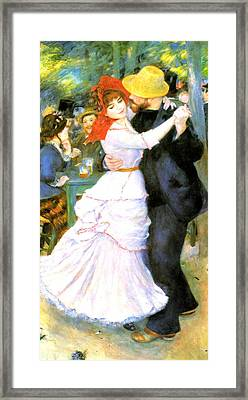 Dance At Bougival Framed Print by Pierre Auguste Renoir