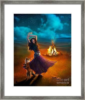 Dance Dervish Fox Framed Print by Aimee Stewart