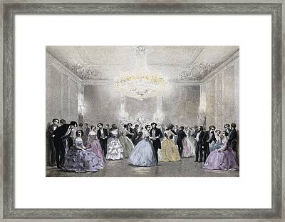Dance Hall Of Mr. Laborde. Litography Framed Print by Everett
