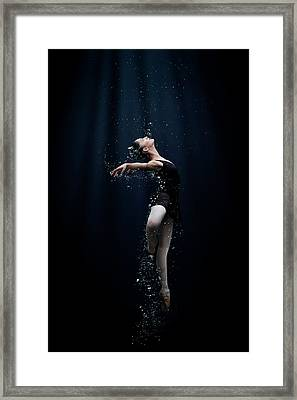 Underwater Diva Framed Print featuring the photograph Dance In The Water by Semra Halipoglu