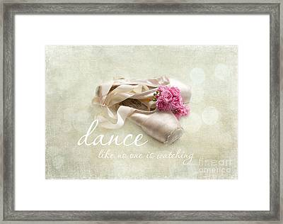 Dance Like No One Is Watching Framed Print by Sylvia Cook