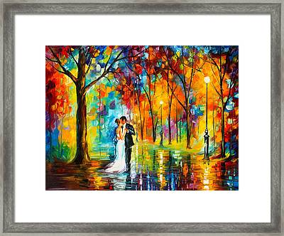 Dance Of Love Framed Print by Leonid Afremov
