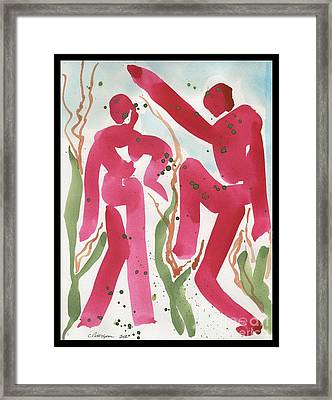Dance Of Spring And The New Harvest Framed Print by Cathy Peterson